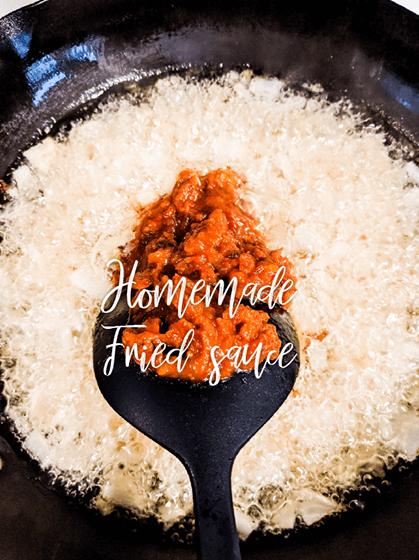 Homemade Chinese fried sauce